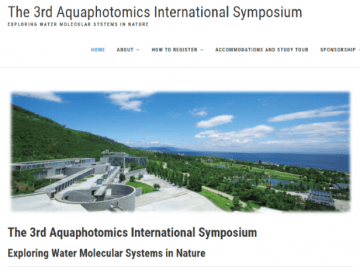 Presentation Videos of the 3rd Aquaphotomics International Symposium is now available!