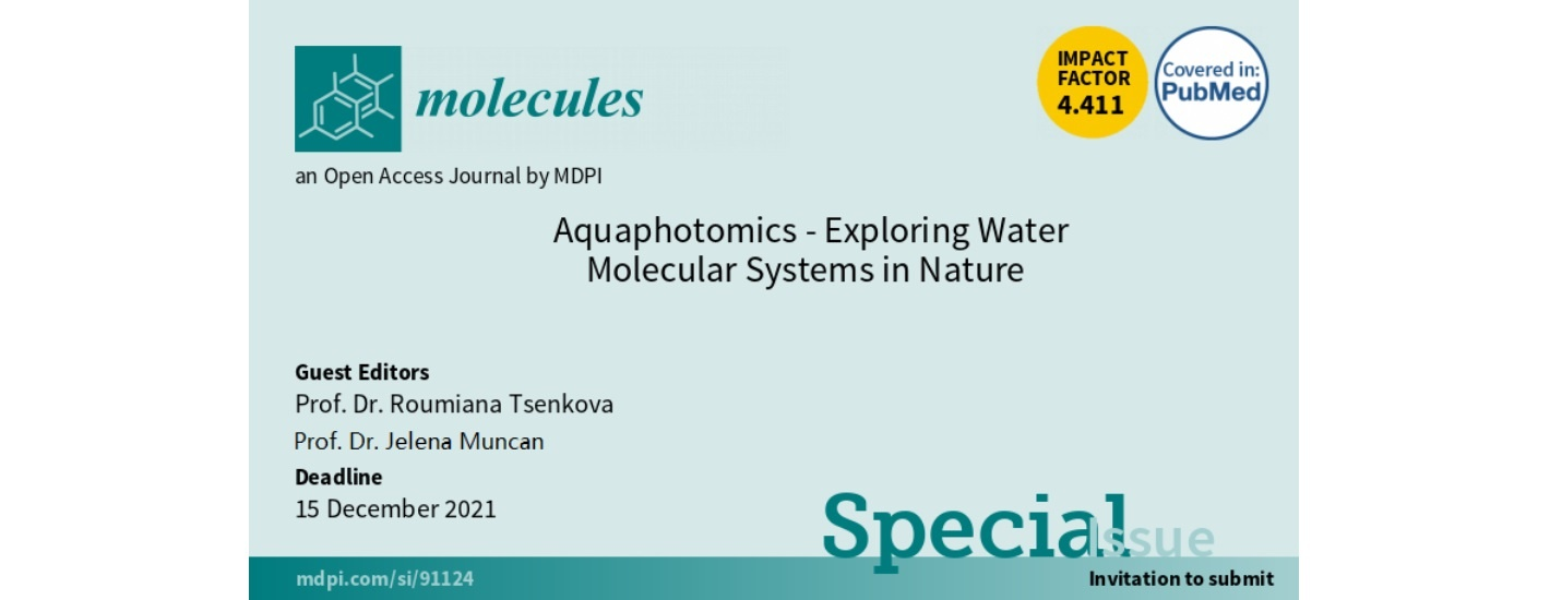 """Special Issue: """"Aquaphotomics - Exploring Water Molecular Systems in Nature"""""""